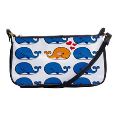 Fish Animals Whale Blue Orange Love Shoulder Clutch Bags by Mariart