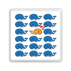 Fish Animals Whale Blue Orange Love Memory Card Reader (square)  by Mariart