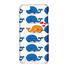 Fish Animals Whale Blue Orange Love Apple Ipod Touch 5 Hardshell Case With Stand by Mariart