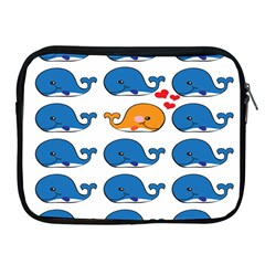 Fish Animals Whale Blue Orange Love Apple Ipad 2/3/4 Zipper Cases by Mariart