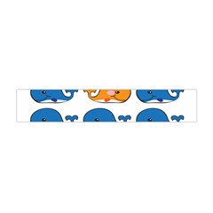 Fish Animals Whale Blue Orange Love Flano Scarf (mini) by Mariart