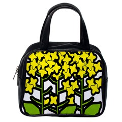 Flower Floral Sakura Yellow Green Leaf Classic Handbags (one Side) by Mariart