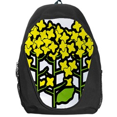 Flower Floral Sakura Yellow Green Leaf Backpack Bag by Mariart