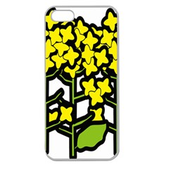Flower Floral Sakura Yellow Green Leaf Apple Seamless Iphone 5 Case (clear) by Mariart