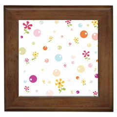 Flower Floral Star Balloon Bubble Framed Tiles by Mariart
