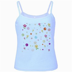 Flower Floral Star Balloon Bubble Baby Blue Spaghetti Tank by Mariart