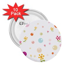 Flower Floral Star Balloon Bubble 2 25  Buttons (10 Pack)