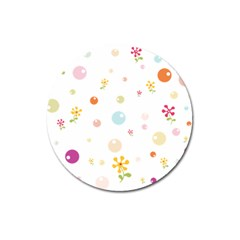 Flower Floral Star Balloon Bubble Magnet 3  (round) by Mariart