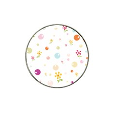 Flower Floral Star Balloon Bubble Hat Clip Ball Marker (10 Pack) by Mariart