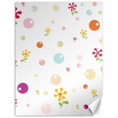 Flower Floral Star Balloon Bubble Canvas 18  X 24   by Mariart
