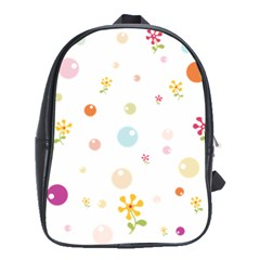 Flower Floral Star Balloon Bubble School Bags(large)  by Mariart