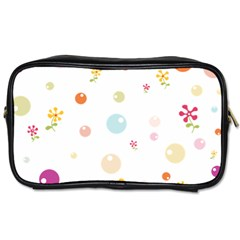 Flower Floral Star Balloon Bubble Toiletries Bags by Mariart