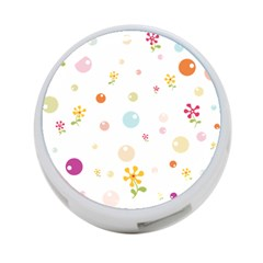 Flower Floral Star Balloon Bubble 4 Port Usb Hub (one Side) by Mariart