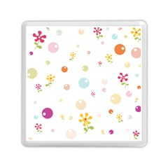 Flower Floral Star Balloon Bubble Memory Card Reader (square)  by Mariart