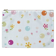 Flower Floral Star Balloon Bubble Cosmetic Bag (xxl)  by Mariart