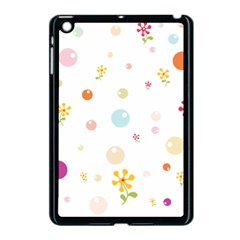 Flower Floral Star Balloon Bubble Apple Ipad Mini Case (black) by Mariart