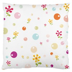 Flower Floral Star Balloon Bubble Standard Flano Cushion Case (one Side) by Mariart