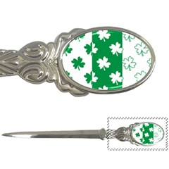 Flower Green Shamrock White Letter Openers by Mariart