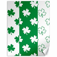 Flower Green Shamrock White Canvas 18  X 24   by Mariart