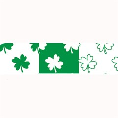 Flower Green Shamrock White Large Bar Mats by Mariart