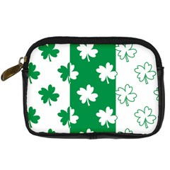 Flower Green Shamrock White Digital Camera Cases by Mariart