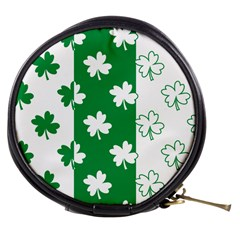 Flower Green Shamrock White Mini Makeup Bags by Mariart