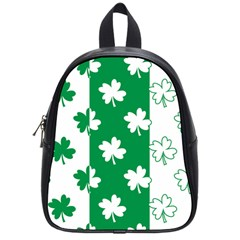 Flower Green Shamrock White School Bags (small)  by Mariart