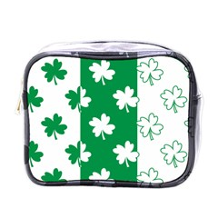 Flower Green Shamrock White Mini Toiletries Bags by Mariart