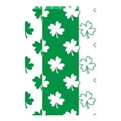 Flower Green Shamrock White Shower Curtain 48  X 72  (small)  by Mariart
