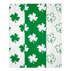 Flower Green Shamrock White Shower Curtain 60  X 72  (medium)  by Mariart