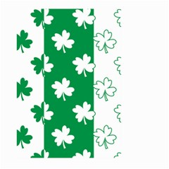 Flower Green Shamrock White Large Garden Flag (two Sides) by Mariart