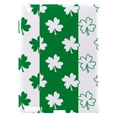 Flower Green Shamrock White Apple Ipad 3/4 Hardshell Case (compatible With Smart Cover) by Mariart
