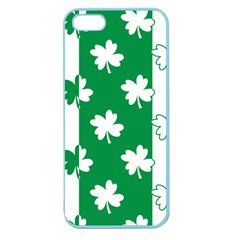 Flower Green Shamrock White Apple Seamless Iphone 5 Case (color) by Mariart