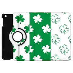 Flower Green Shamrock White Apple Ipad Mini Flip 360 Case by Mariart