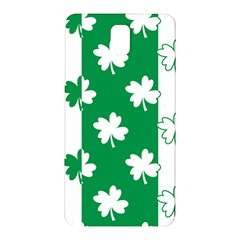 Flower Green Shamrock White Samsung Galaxy Note 3 N9005 Hardshell Back Case by Mariart