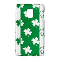 Flower Green Shamrock White Galaxy Note Edge by Mariart