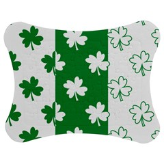 Flower Green Shamrock White Jigsaw Puzzle Photo Stand (bow) by Mariart