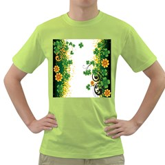 Flower Shamrock Green Gold Green T Shirt by Mariart