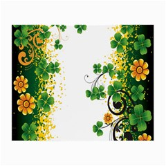 Flower Shamrock Green Gold Small Glasses Cloth by Mariart