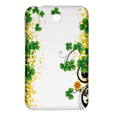 Flower Shamrock Green Gold Samsung Galaxy Tab 3 (7 ) P3200 Hardshell Case  by Mariart