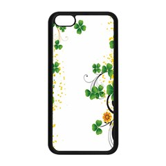 Flower Shamrock Green Gold Apple Iphone 5c Seamless Case (black) by Mariart