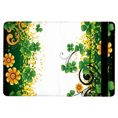 Flower Shamrock Green Gold Ipad Air Flip by Mariart