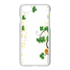 Flower Shamrock Green Gold Apple Iphone 7 Seamless Case (white) by Mariart