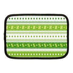 Flower Floral Green Shamrock Netbook Case (medium)  by Mariart