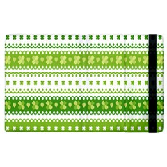 Flower Floral Green Shamrock Apple Ipad 3/4 Flip Case by Mariart