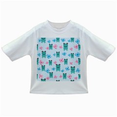 Frog Green Pink Flower Infant/toddler T Shirts by Mariart