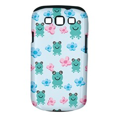 Frog Green Pink Flower Samsung Galaxy S Iii Classic Hardshell Case (pc+silicone) by Mariart