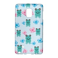 Frog Green Pink Flower Galaxy Note Edge by Mariart