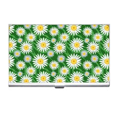 Flower Sunflower Yellow Green Leaf White Business Card Holders by Mariart