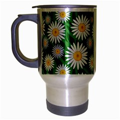 Flower Sunflower Yellow Green Leaf White Travel Mug (silver Gray) by Mariart